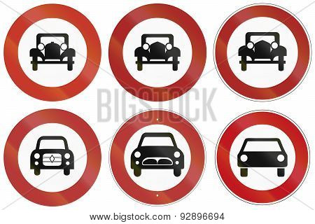 No Car Signs In Germany