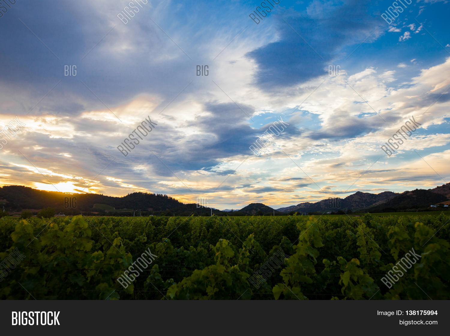 Colorful Clouds Sunset Image Photo Free Trial Bigstock