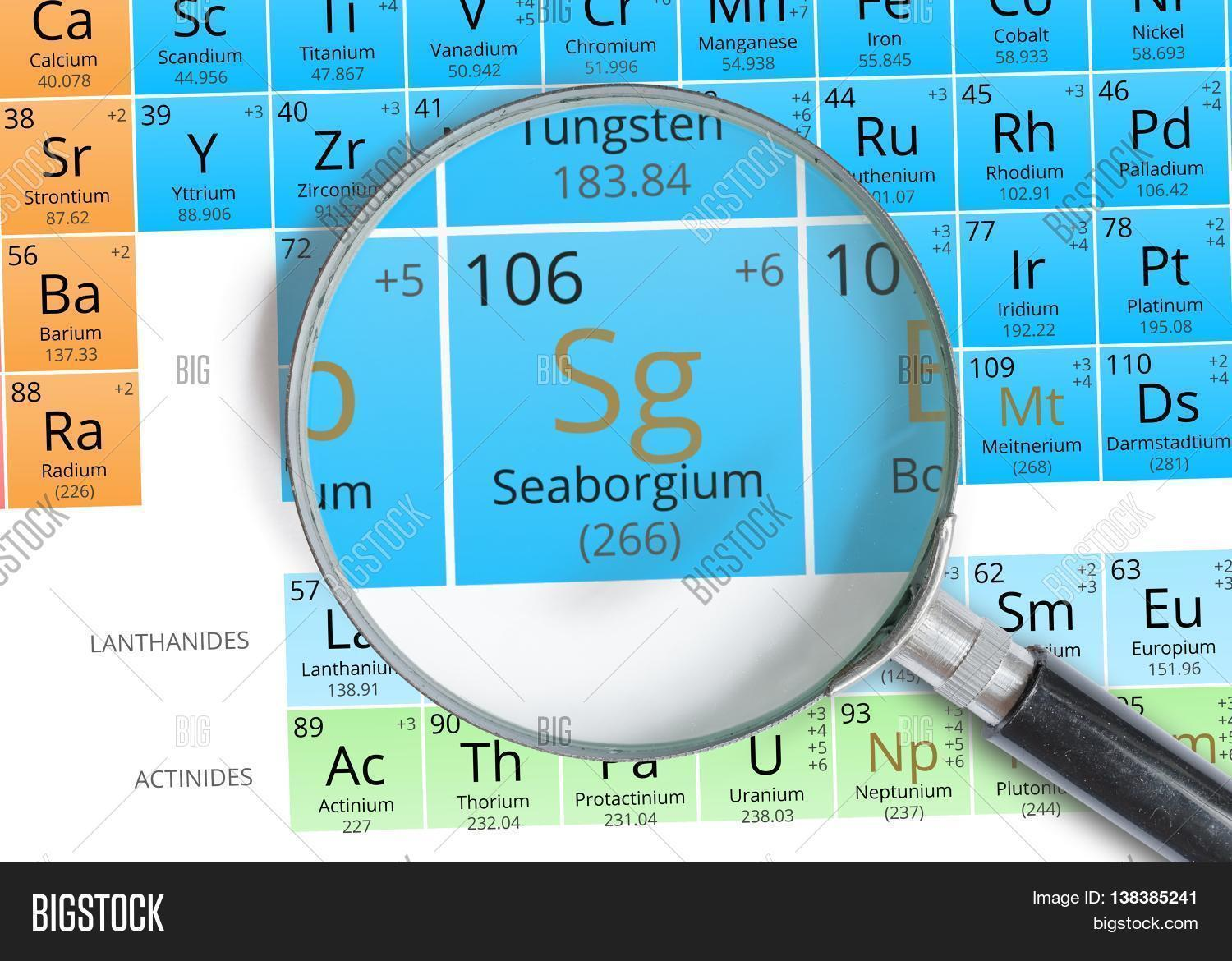 Seaborgium symbol sg image photo free trial bigstock seaborgium symbol sg element of the periodic table zoomed wit urtaz Gallery