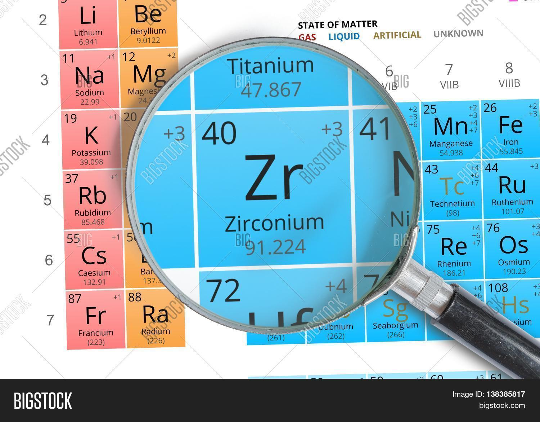 Zirconium Symbol Zr Image Photo Free Trial Bigstock