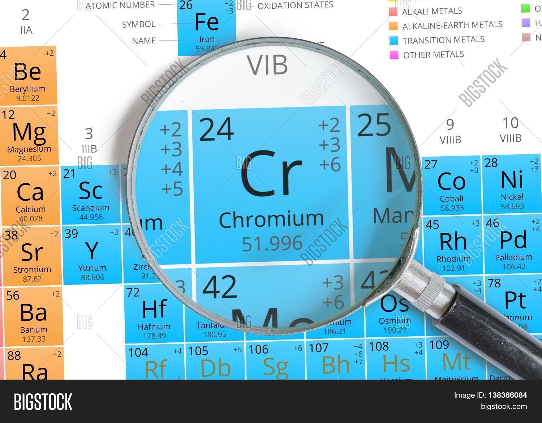 Chromium Symbol Cr Image Photo Free Trial Bigstock