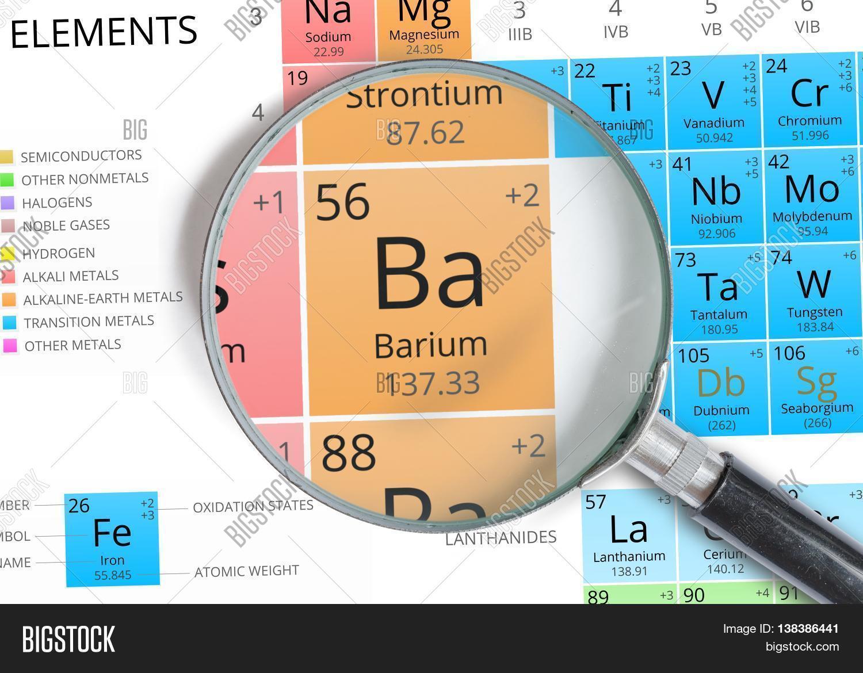 Barium symbol ba element image photo bigstock barium symbol ba element of the periodic table zoomed with ma biocorpaavc Images