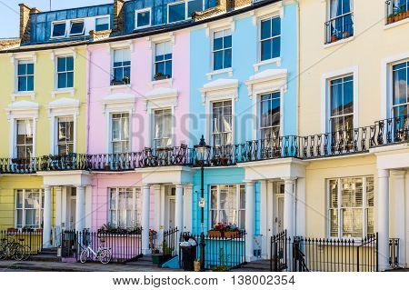 Colourful English Terraced Houses