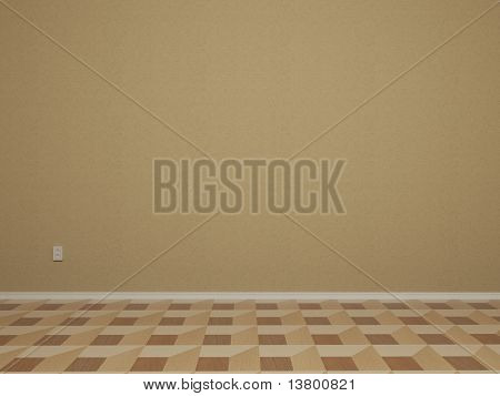 3d Render Of Empty Room With Wall - More Variations In My Portfolio