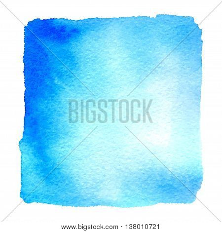 Light Blue Watercolor Hand Drawn Banner