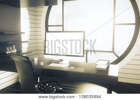 Office Workplace With Sunlight