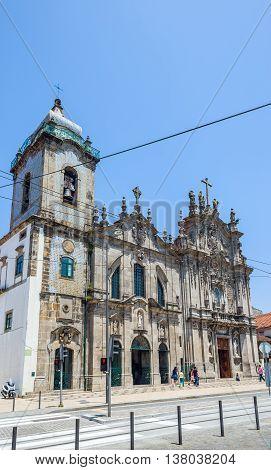 Igreja Dos Carmelitas And Carmo Church In Porto, Portugal.