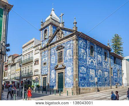 Capela Das Almas Chapel In Porto, Portugal.