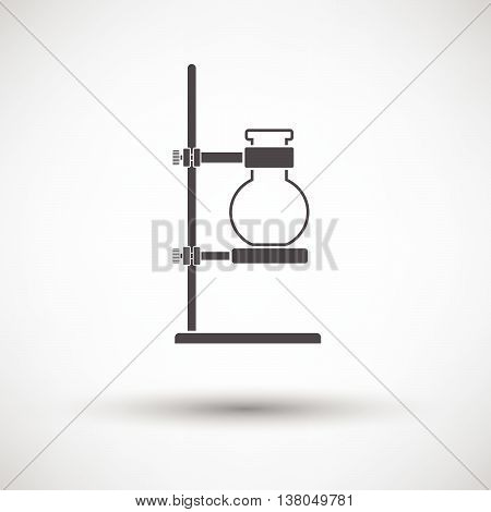 Icon Of Chemistry Flask Griped In Stand