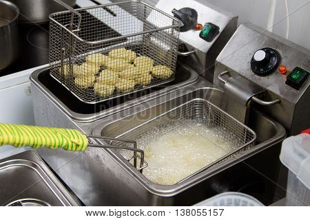 Falafel Frying In The Fritter
