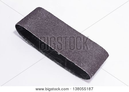 sandpaper isolated on white background for emery machine