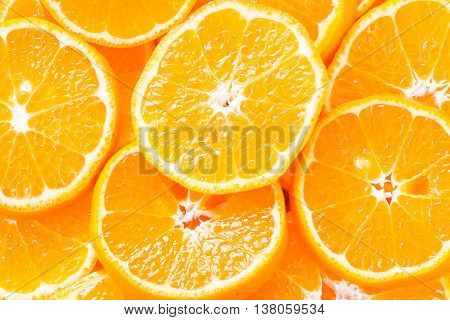 Abstract orange slices as background or texture