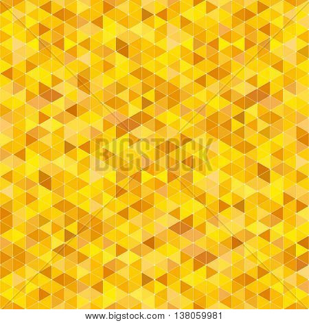 Vector seamless background of yellow triangles of different colors.