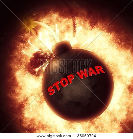 Stop War Means Military Action And Battles