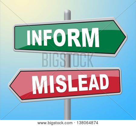 Inform Mislead Indicates Telling Signboard And Board