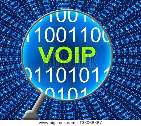 Voip Online Indicates Web Site And Net