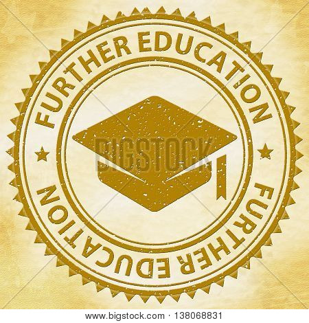 Further Education Shows Tutoring Stamps And Learning