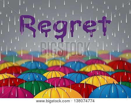 Regret Rain Means Squall Umbrellas And Rainfall