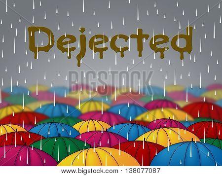 Dejected Rain Shows Shower Forlorn And Downcast