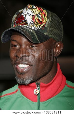 Djimon Hounsou at the Los Angeles premiere of 'Shooter' held at the Mann Village Theatre in Westwood, USA on March 8, 2007.