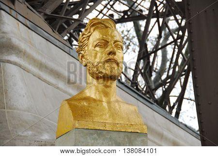 Gustave Eiffel Bust - Paris, France