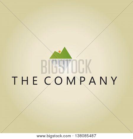 mountain logo ideas design vector on background