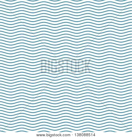 Blue seamless wavy line pattern vector illustration. The stylized background from sea waves. Waves background. Waves pattern background. Waves sea background. Blue waves background.