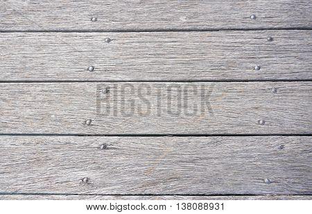 The horizontal dark brown wooden board background