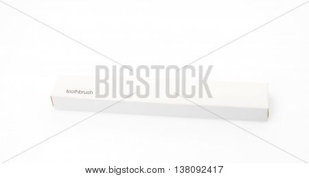Toothbrush travelling set on white background