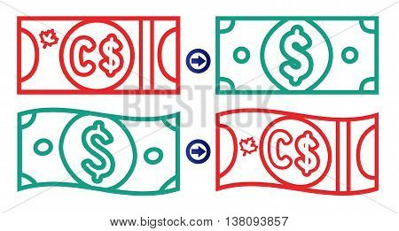 Canadian And American Dollar Exchange