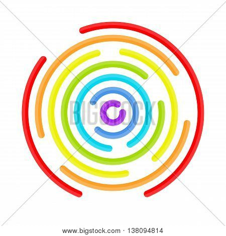 Abstract vortex in colors of the rainbow. Circular drop background. Vector illustration for design your website and print. Abstract vortex background.