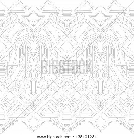 Geometric seamless pattern on a white background vector