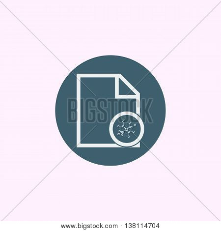 File Connection Icon In Vector Format. Premium Quality File Connection Symbol. Web Graphic File Conn
