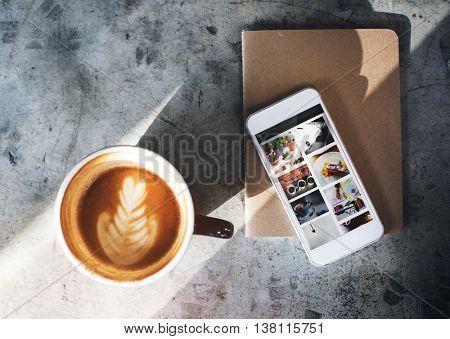 Coffee Caffeine Book Cafe Relax Refreshment Concept