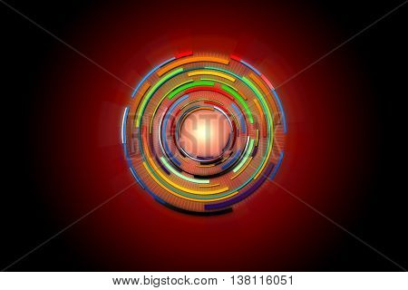 Hi-tech background design. Abstract technology background. Circle technology of power concept. Abstract future digital science technology concept.