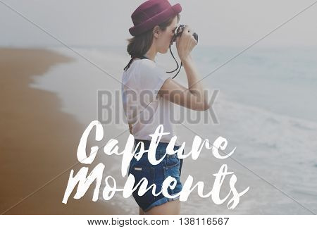 Capture Moments Memories Collection Concept