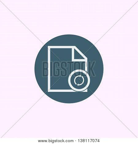 File Refresh Icon In Vector Format. Premium Quality File Refresh Symbol. Web Graphic File Refresh Si