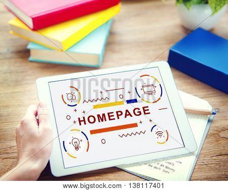 Homepage Website Blogging Browser Concept