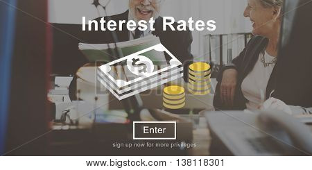 Interest Rates Loan Money Percentage Profit Concept