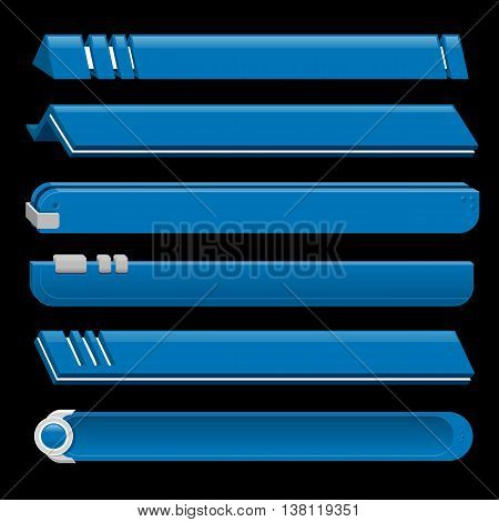 Blue lower third banner bar screen broadcast - vector illustration
