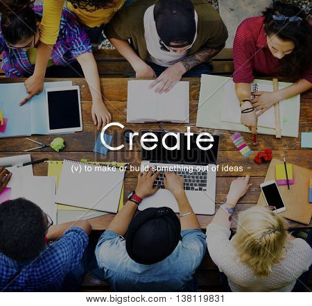 Create Creative Creativity Design Style Ideas Skill Concept