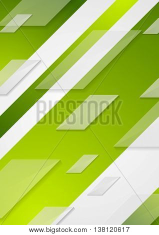 Green tech vector flyer background. Abstract geometric technology corporate template design