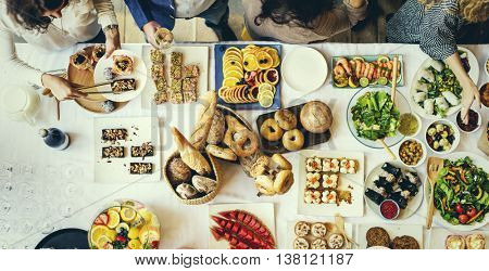 Food Cuisine Culinary Buffet Party Concept
