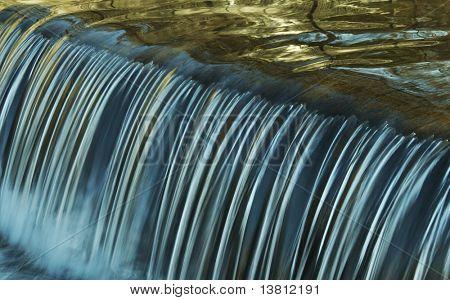 Symmetry water cascade in park