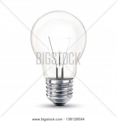 Light bulb, isolated, Realistic photo image,  vector illustration,