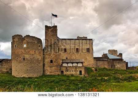 Ruins of the medieval castle of the Livonian order August in Rakvere, Estonia poster