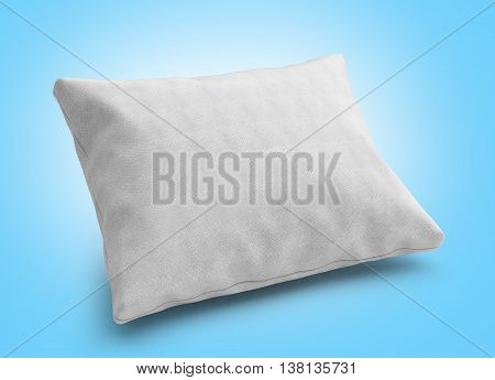Close Up Of A Clasic White Pillow 3D Render On Gradient Background