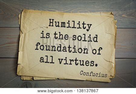 Write my essay on humility is the foundation of all virtues