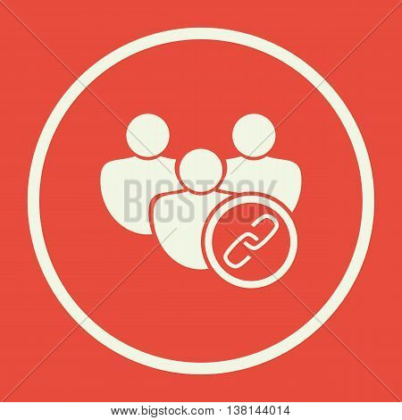 User Link Icon In Vector Format. Premium Quality User Link Symbol. Web Graphic User Link Sign On Red