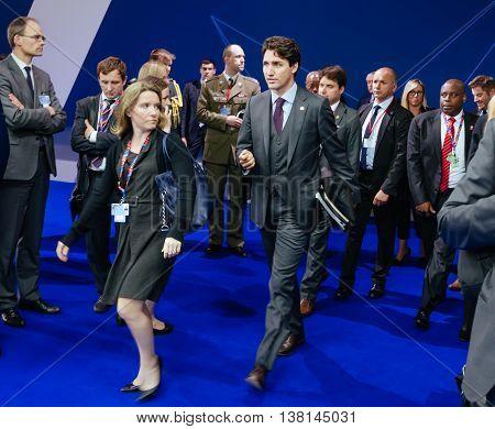 Prime Minister Of Canada Justin Trudeau At Nato Sammit